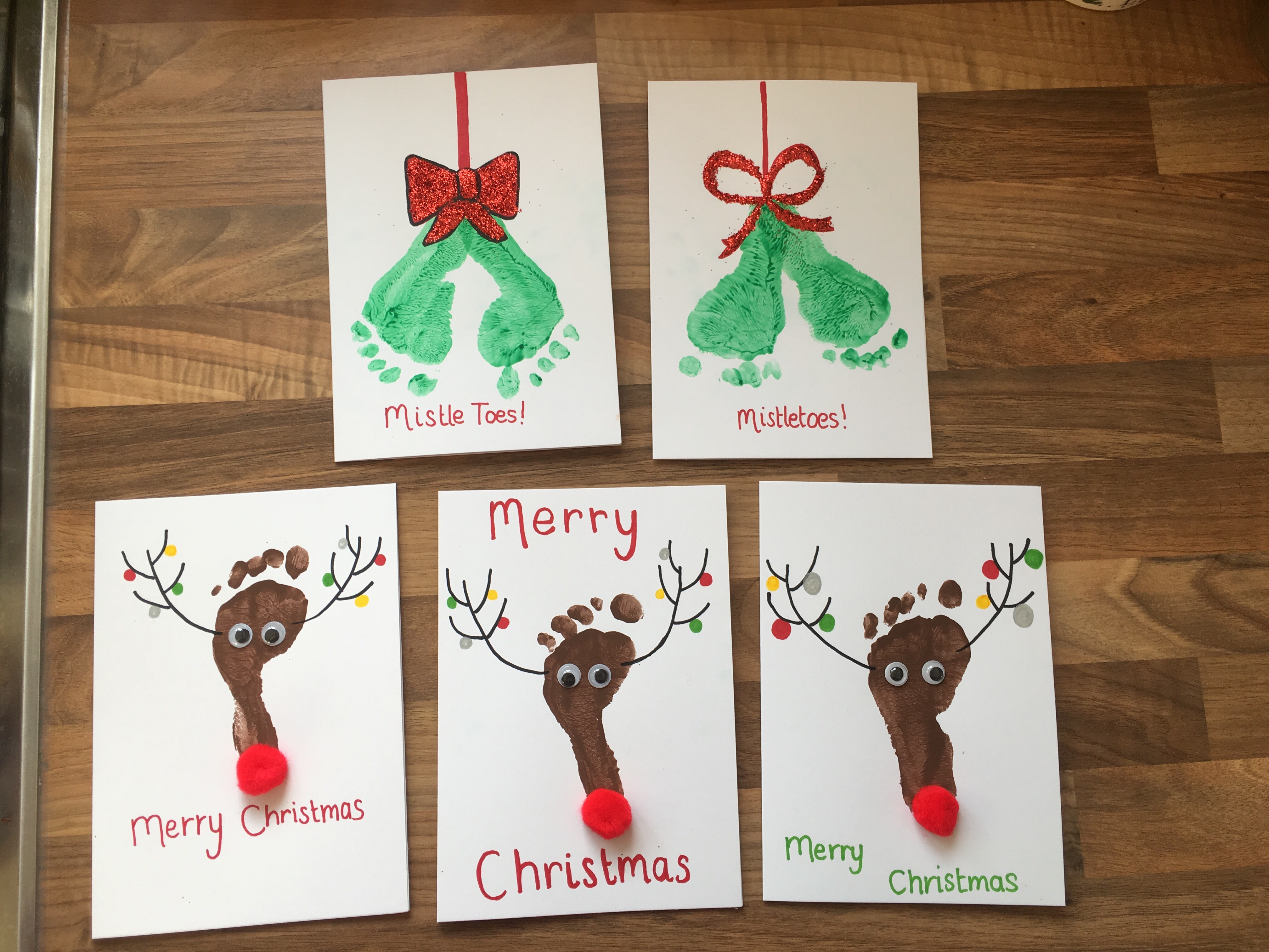 baby print christmas cards mummy miller