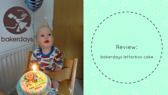 Review & Giveaway: bakerdays letterbox cake